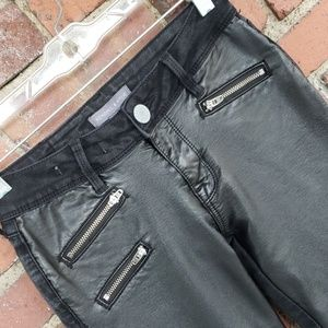 Kendall & Kylie Pleather and Denim Pants